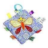 Manta de Seguridad para Bebes TOYMYTOY Juguetes Blandos con Sonajero para Niños (Mariposa)