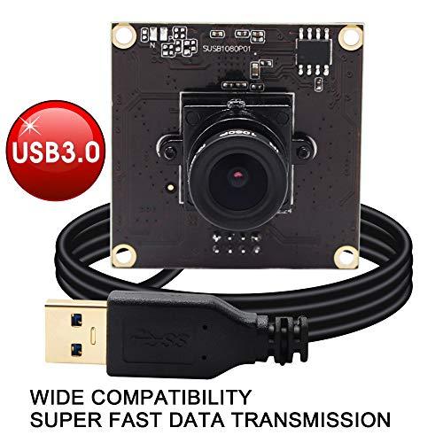 ELP Webcam USB3.0 Compatible with Sensor Sony IMX291 USB Kamera MJPEG YUY2 50fps 2 Megapixel Hochgesch Windigkeits 1080P Kamera Modul für Android Linux Windows Mac -