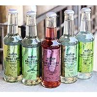 Urban Platter Assorted Artisanal Soda, 275ml [Pack of 5, Khus, Lemongrass, Tulsi, Kokum, Saunf]