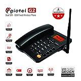 #1: GIOTEL G2 GSM Dual SIM Fixed Wireless Phone (Black)