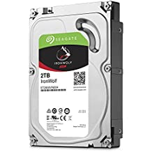 Seagate 2 TB IronWolf 3.5 Inch 5900 RPM Internal Hard Drive for 1-8 Bay NAS Systems (64 MB Cache, 180 TB/Year Workload Rate, Up to 180 MB/s)