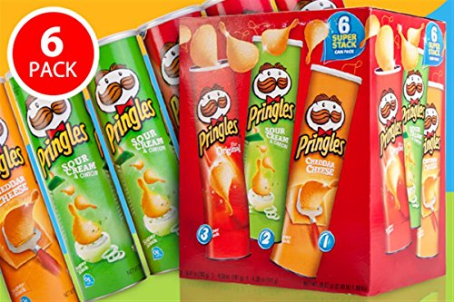 Pringles Assorted Variety Flavour Combo Pack, [ 6 Assorted Flavours,...