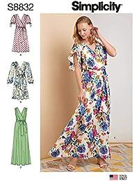 e9e047de8c18 Simplicity US8832R5 S8832 - Cartamodello per vestito da donna pullover con  cintura