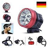 GHB Fahrradlampe Stirnlampe 12000LM 9 X ML T6 LED Frontlicht Schweinwerfer Fahrradbeleuchtung