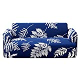 LMXJB 1-Stück Sofa Überwürfe Sofabezug mit Stretch Elastische Sofabezug Slipcover Sofa Abdeckung Sofahusse Couchhusse Spannbezug Für Sofa mit Armlehne,Maschine Waschbar,Blue,1Seater(90/140Cm)