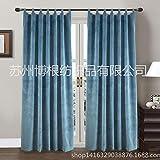 qcl3d Vorhänge Vorhang Gardinen Pole-Stange Korean s Hook Samtvoll-Polyester-Hängeband Hoop-Stange Korean s Hakenmodelle, Marineblau, 52x95