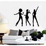 pared vinilo música Sexy Chica de salón dormitorio baño Kids Wall Art Home Decor