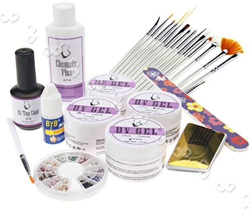 Manucure Cuticule Extension Faux Ongle GEL UV Capsule Tip Iime bloc
