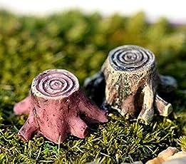 ABCMOS Home Scenery Micro Dekoration Miniatur Baum stümpfe Dekoration für Garten Ornamente 1 stücke 1 * 1,5 cm