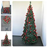Weihnachtsbaum 1,8m geschmückt und mit LED beleuchte grün