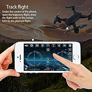 ZYSMC Drone with Case,720P HD camera, best drone for beginners, height retention, voice control, G sensor for iPhone and Android