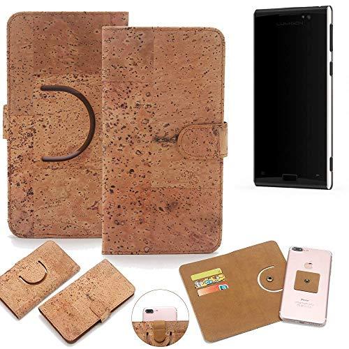 K-S-Trade Schutz Hülle für Lumigon T3 Handyhülle Kork Handy Tasche Korkhülle Schutzhülle Handytasche Wallet Case Walletcase Flip Cover Smartphone