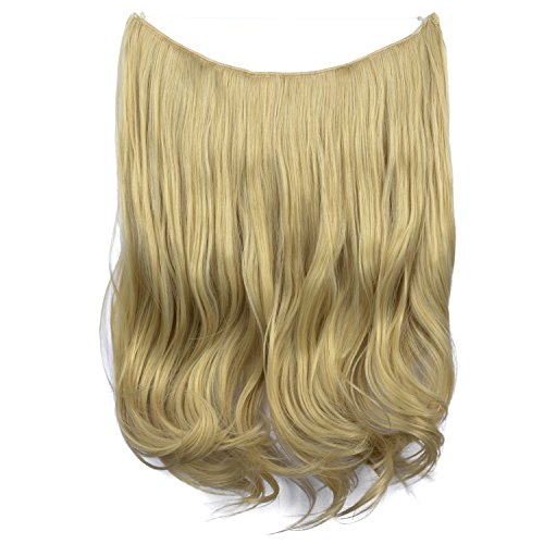 FESHFEN Haarverlängerung, 51 cm, , H09 - 24/613 Light Blonde & Bleach Blonde