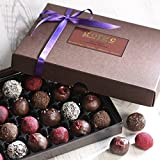 24 Raw Organic Chocolate Truffles (No Added Sugar, Dairy Free, Gluten Free, SOYA Free, Superfood Chocolates)