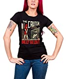Billy Talent T Shirt The Crutch band logo Nue offiziell damen Schwarz skinny fit