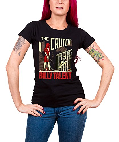Billy Talent T Shirt The Crutch band logo Nue offiziell damen Schwarz skinny fit (Skinny Fit-band-t-shirts)