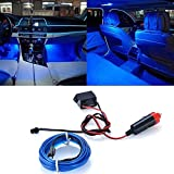 Tira de alambre universal para interior de coche, LED, 12 V CC, luz LED azul fría, 6.56 pies/2 m
