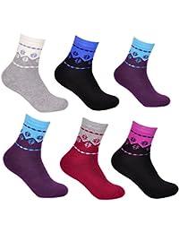 Lot de 6 paires de chaussettes thermiques - Libella - coton - femme 92214