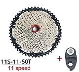 MTB 11 Speed Cassette, 11-50T breite Übersetzung Kettenräder kompatibel für Shimano m7000 m8000 m9000 Sunrace