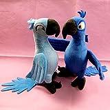 VintageⅢ 2018 Hot Original Rio Papagei Kostenloser versand Plüsch Blu & Jewel Cartoon Weiche Kinder Stofftiere Spielzeug Jungen Mädchen Kinder Weihnachtsgeschenk 30 cm (Both)