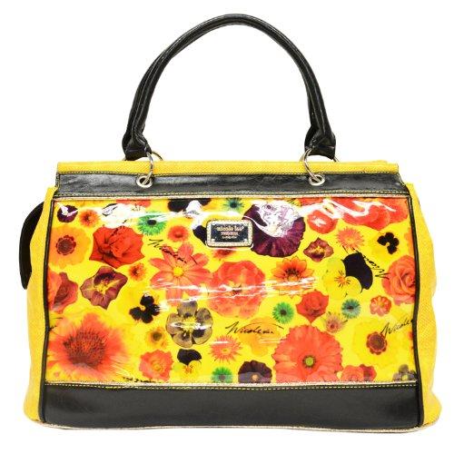 nicole-lee-cate-metallic-garden-overnight-boston-bag-black-one-size