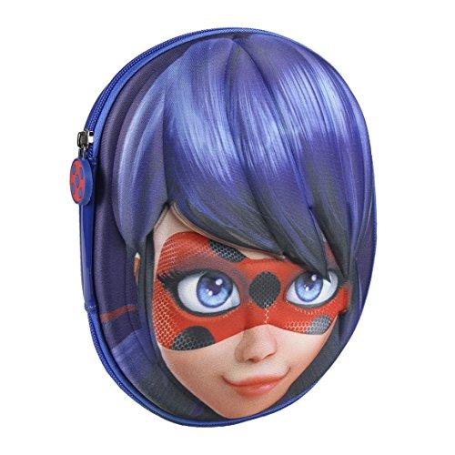 Cerdá 3d lady bug astuccio, 24 cm, blu (azul)