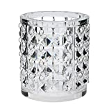 #9: Pure Home + Living Hanging Crystal Glass Candle Holder (18 cm x 18 cm x 22 cm, White)