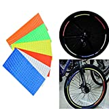 SwirlColor 48 Stripes 6 Colors Fluorescent MTB Bike Bicycle Wheel Rim Reflective Stickers Cycling Reflective Tape Decal