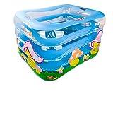 LybCvad Baby Schwimmbad Familie Kinder aufblasbare Badewanne Baby Bad Fass Schwimmbad Isolierung wanne Vier Ring 120 cm Transparent Pilz Modelle