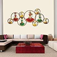 AONA Metal Wall Decor/Wall Mounted Nine Circle Doll with LED Light, 56 inches X 25 inches X 3 inches
