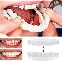 TAOtTAO 1Paire temporaire Smile Coupe Confortable Cosmétique Dents dentier Dents Cosmétique Autocollant