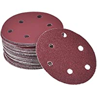 sumaju discos de papel de lija, 40/60/80/100/120/180/240/320/400/800) redondo hoja de lija grano papel de lija para lijadora orbital (20unidades)