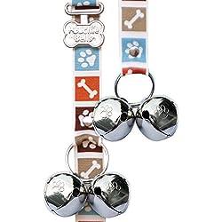 Poochie Bells Bone Appetite Brown Gassitraining, Hunde Türklingel, Stubenrein Machen