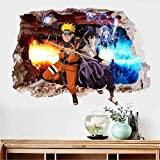 Naruto Autocollants muraux auto-adhésif papier peint dortoir 60x90cm