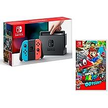 Nintendo Switch 32gb Azul/Rojo Neón + Super Mario Odyssey
