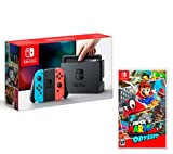 Nintendo Switch console Rouge/Bleu Néon 32Go + Super Mario Odyssey