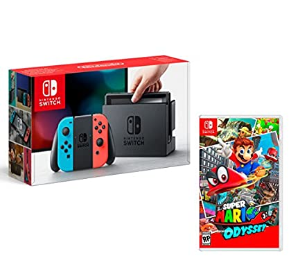 Nintendo Switch 32gb Azul/Rojo Neón + Super Mar...