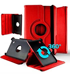 1001 Coques - Housse rotative 360° Samsung Galaxy Tab 2 7 GT-P3100 - Rouge