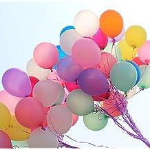 Lote de 100globos + bomba de balón inflador globos nácar perla látex y Con Globos Decoración ideal para cumpleaños boda tarde Color aleatorio