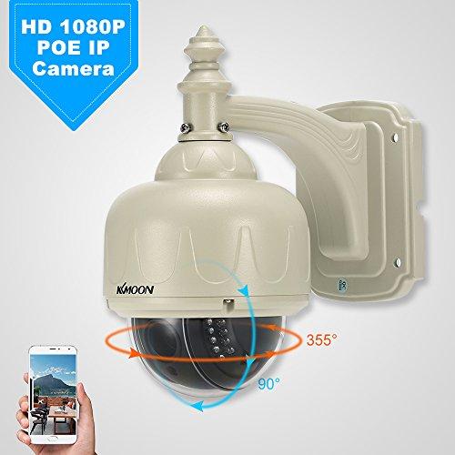 Für Auto Motion-security-kamera (KKmoon 1080P POE IP-Kamera 2.0MP HD 2.7 ~ 13.5mm Auto-Fokus PTZ IR-CUT 22pcs IR-Lampen Unterstützung Telefon APP Control Motion Detection Nachtsicht für CCTV Home Security)