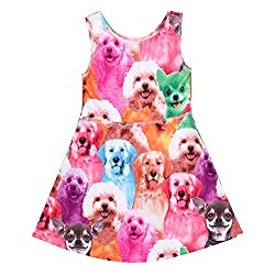 CHIC-CHIC Little Girl's Cute Cartoon Classical Animals Printed Sleeveless Dress