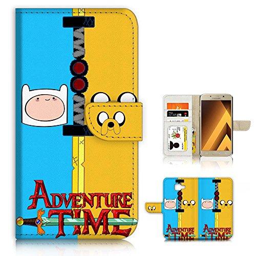 Samsung (A72017sm-a720) Flip Wallet Schutzhülle & Displayschutzfolie Bundle. a20437Adventure Mal Finn Jake - Jake Abenteuer