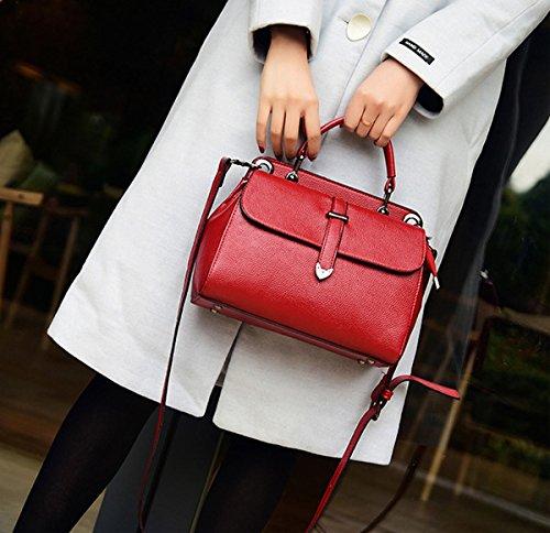 Weibliche mode einfache dai Fei tasche Schulter diagonale Gürtel dekoration paket Rot
