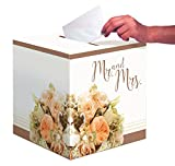 Creative Converting wedding card box, Carta, Rose Gold Bouquet, 365 cm ca.