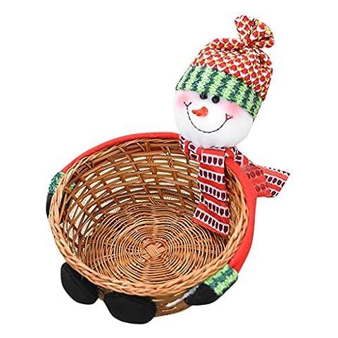 Sankt Claus Niedlich Lagerung Korb HARRYSTORE Weihnachten Süßigkeiten Lagerung Korb Dekoration (18*8CM, (Laterne Weihnachtsschmuck)
