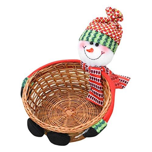 Lagerung Korb HARRYSTORE Weihnachten Süßigkeiten Lagerung Korb Dekoration (18*8CM, B) (Niedlich Billige Halloween-dekoration)
