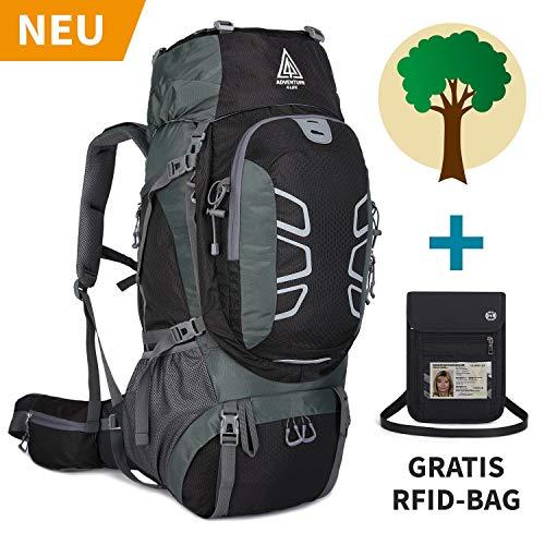Adventure 4 Life - Hochwertiger Trekkingrucksack 60L für Damen & Herren - Wanderrucksack für Outdoor - Camping - Travel - Backpackers - Dein Kauf unterstützt ein Regenwaldprojekt