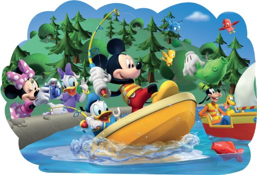 Disney Mickey Mouse Clubhouse Shaped Floor Puzzle  15 Pieces
