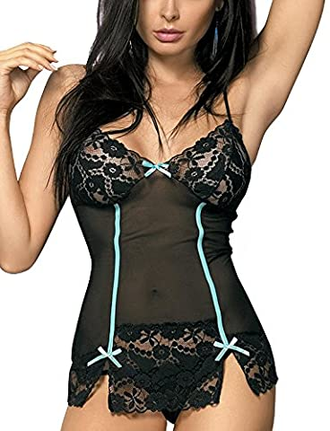 Obsessive Bloom Chemise Lace and Bow–Small/Medium