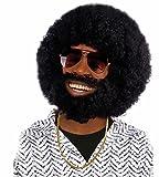 Boland - Pe768 - Perruque Rufus Avec Barbe et Moustaches Noires